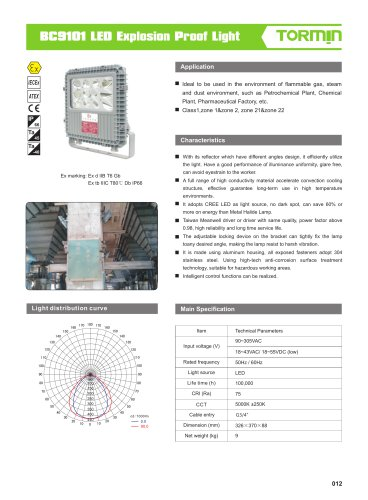 BC9101 explosion proof fixed light