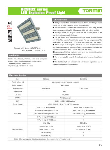 BC9102 explosion proof fixed light