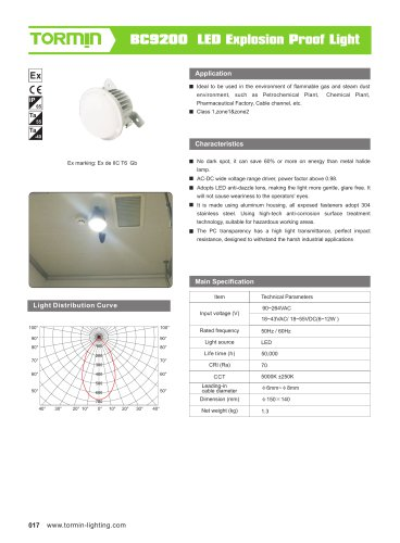 BC9200 explosion proof fixed light