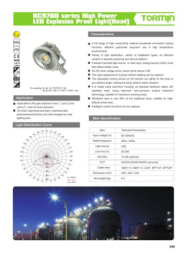 BC9700 high pole explosion proof fixed light