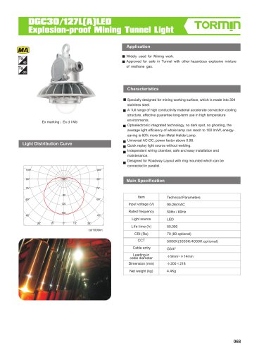DGC30/127L(A)LED Explosion-proof Mining Tunnel Lightv