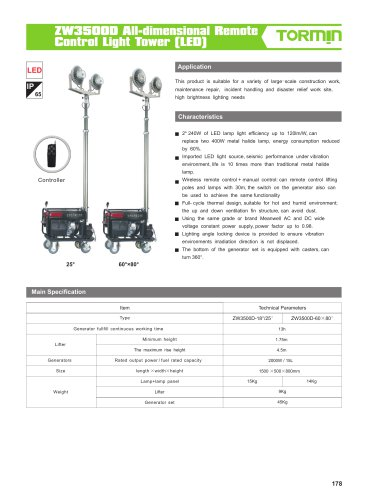 ZW3500D portable light