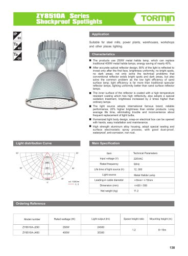 ZY8510A non ex fixed professional light
