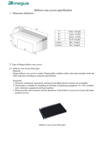 Bellows way covers specification-ENG