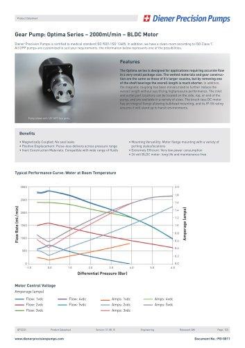 PD 0011: Gear Pump Optima Series 2000 ml/min - BLDC Motor