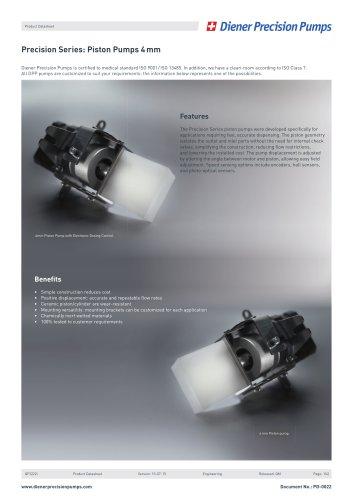 PD 0022: Precision Series Piston Pump 4 mm