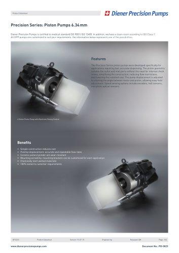 PD 0023: Precision Series Piston Pump 6.34 mm