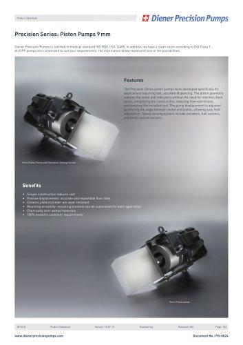 PD 0024 - Precision Series Piston Pump 9 mm