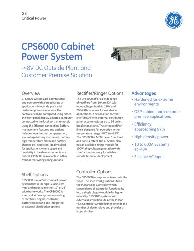 CPS6000 Cabinet Power System