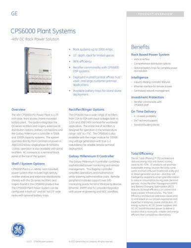 CPS6000 Plant Systems