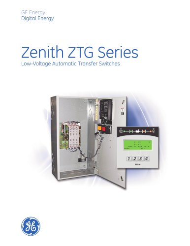 GE's ZTG Series Automatic Transfer Switch (ATS) - Product Bulletin