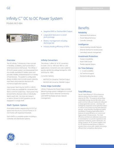 Infinity C ? DC to DC Power System