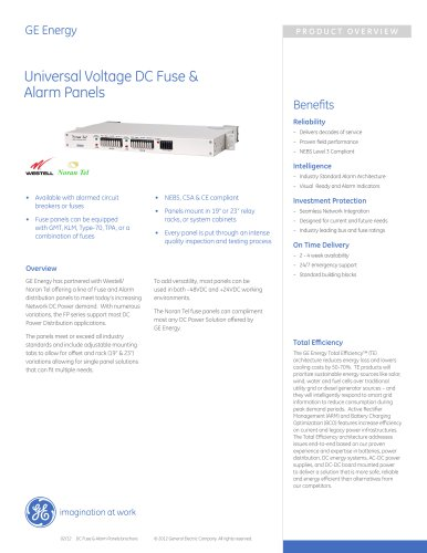 Universal Voltage DC Fuse & Alarm Panels