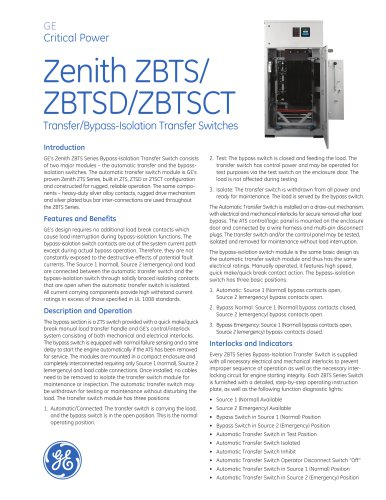ZBTS(D)(CT) Bypass/Isolation ATS