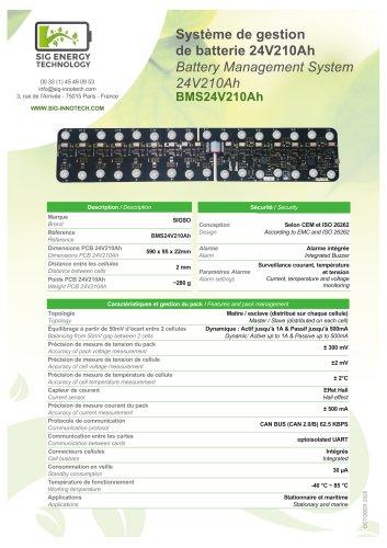 BMS 24V210Ah