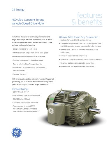 A$D Ultra - Constant Torque Variable Speed Drive Motor
