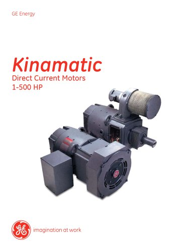 Kinamatic Direct Current Motors 1-500 HP fact sheet