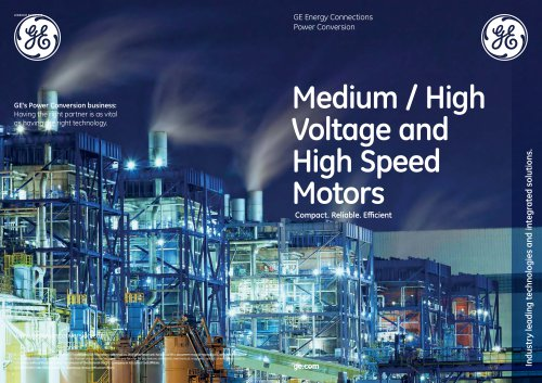 Medium / High  Voltage and  High Speed  Motors