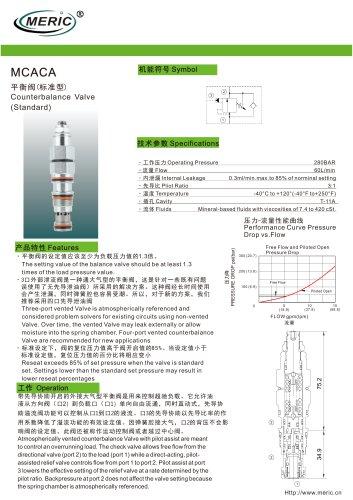 Balancing valve MCACA series