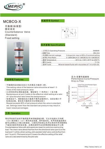 Balancing valve MCBCG-X series