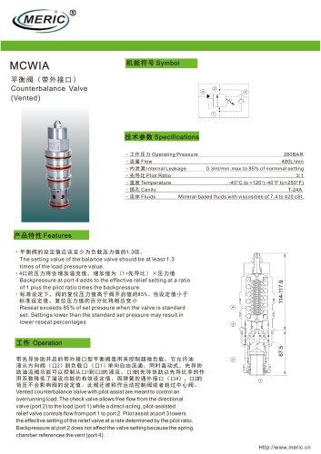Balancing valve MCWIA series