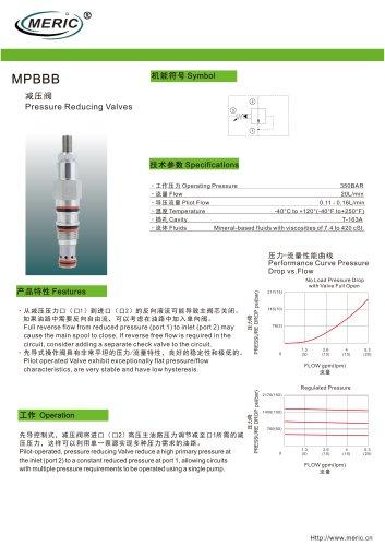 Cartridge pressure relief valve MPBBB series