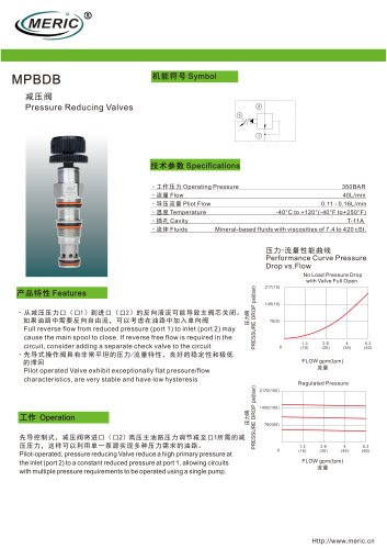 Cartridge pressure relief valve MPBDB