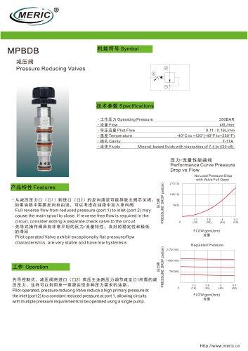 Cartridge pressure relief valve MPBDB series
