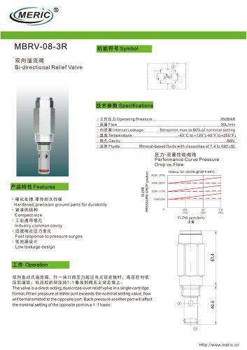 Cartridge relief valve MBRV-08-3R