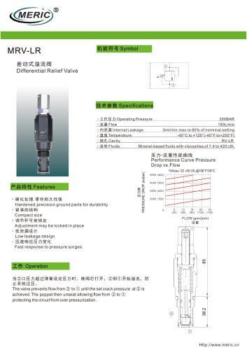 Cartridge relief valve MRV-LR