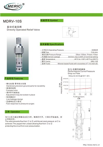 Direct-operated relief valve MDRV-10S