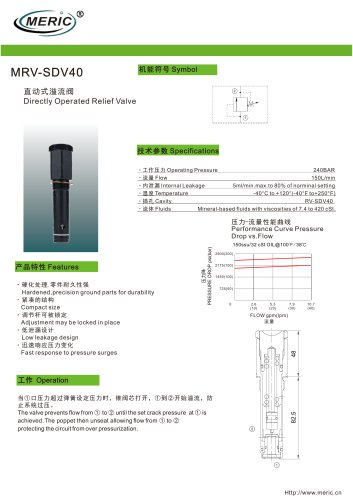 Direct-operated relief valve MRV-SDV40 series