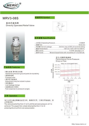 Direct-operated relief valve MRV3-08S series