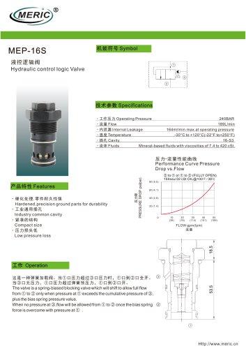 Logic function valve MEP-16S