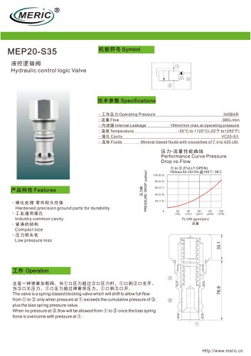 Logic function valve MEP20-S35
