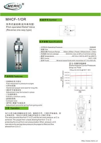 Pilot-operated relief valve MHCF-1/OR