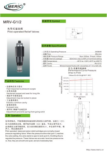 Pilot-operated relief valve MRV-G1/2