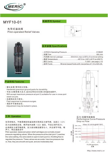 Pilot-operated relief valve MYF10-01 series