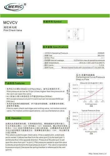 Poppet check valve MCVCV series
