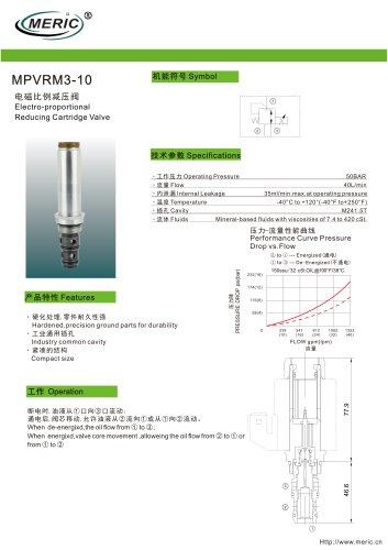 Poppet hydraulic directional control valve MPVRM3-10