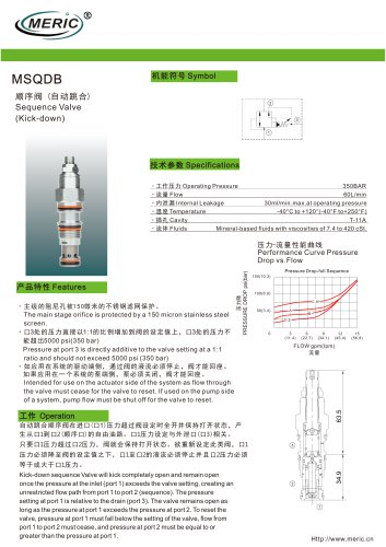 Sequence relief valve MSQDB series