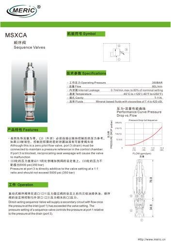 Sequence relief valve MSXCA series