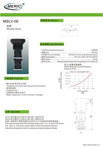 Shuttle check valve MSLV-06