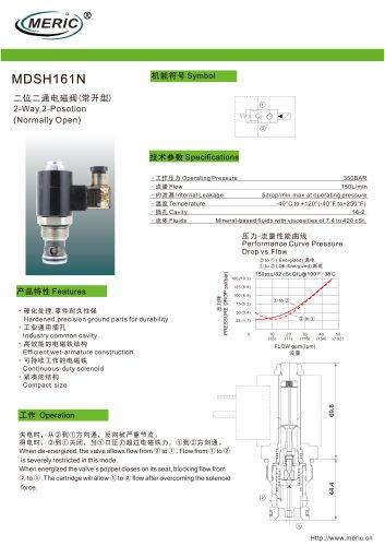 Spool hydraulic directional control valve MDSH161N