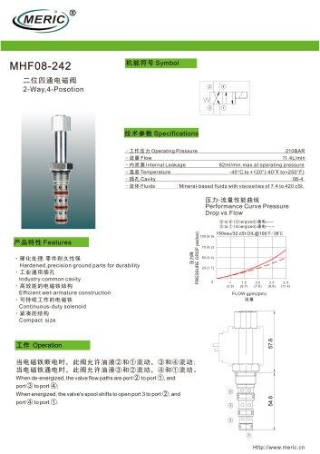 Spool hydraulic directional control valve MHF08-242