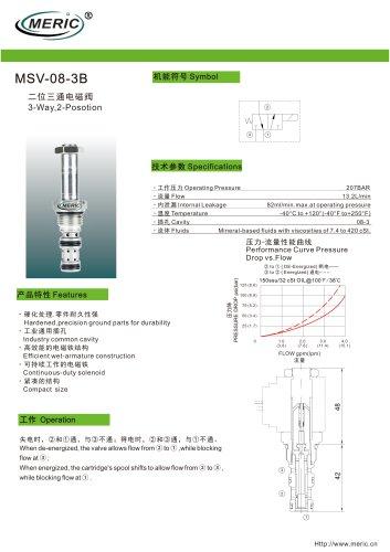 Spool hydraulic directional control valve MSV-08-3B