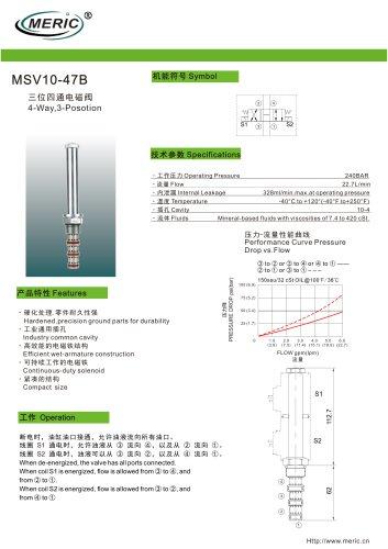 Spool hydraulic directional control valve MSV10-47B