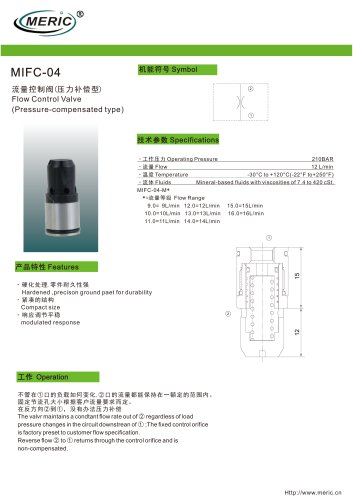 Volumetric flow regulator MIFC-04
