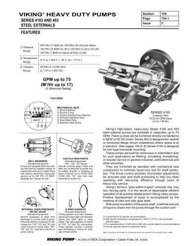 HEAVY DUTY PUMPS, SERIES 4193 AND 493