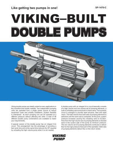 Viking-Built Double Pumps